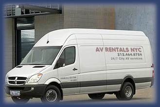 We deliver audio visual NYC, computers NYC, drapery NYC, DJ sound lighting - AV rentals service and av delivery in New York.